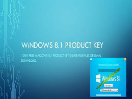 Windows 8.1 Product Key Crack With Serial Key Free Download